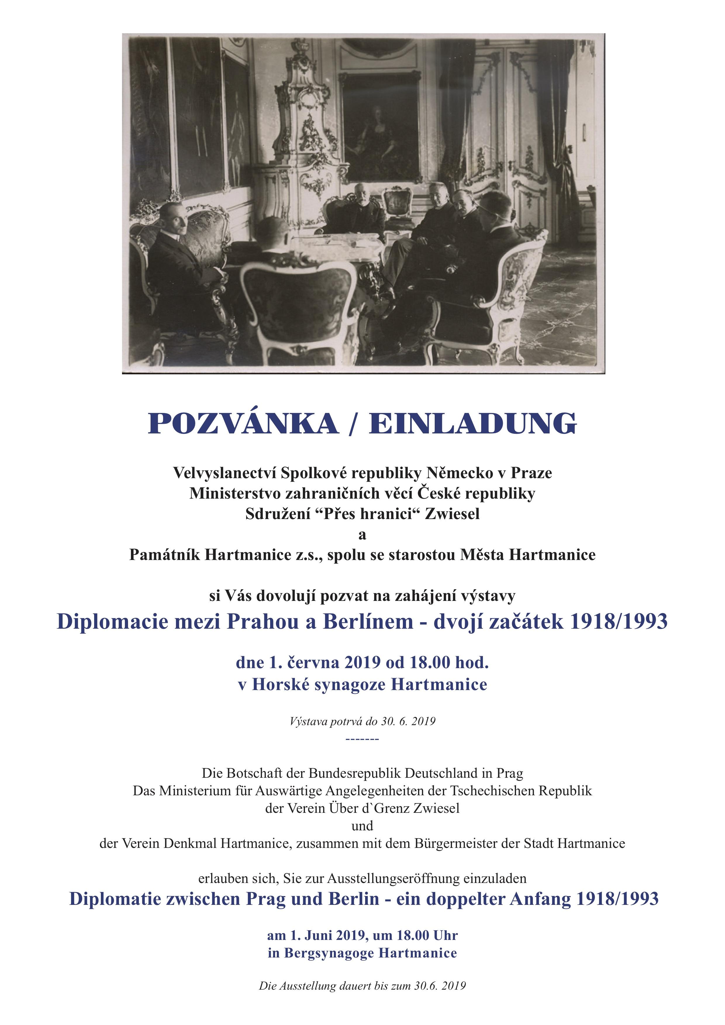 Zahájení výstavy Diplomacie mezi Prahou a Berlínem